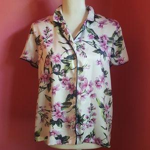 Victoria's Secret Floral Satin Shirt